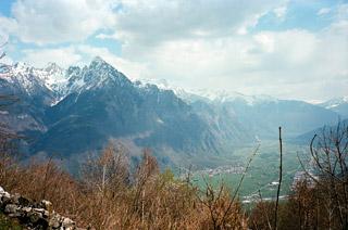 Menarola (above) near Chiavenna, Italy